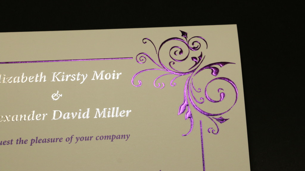 Silver and Purple foil