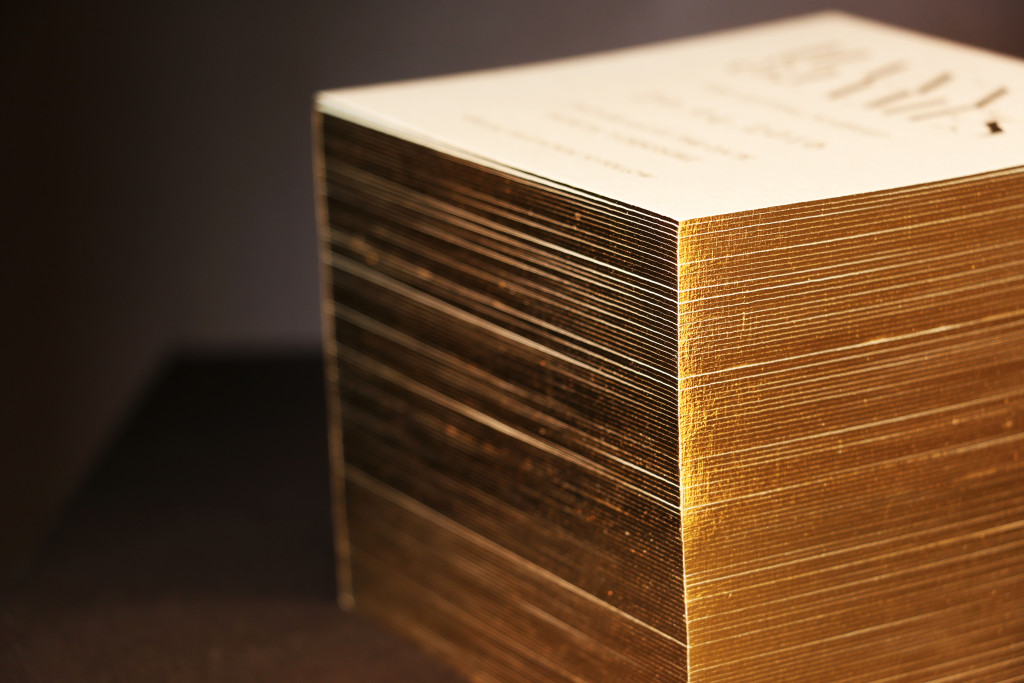 Square Edge Gilding